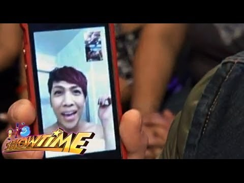 WATCH : Vice Ganda on It's Showtime via video chat!