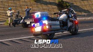 getlinkyoutube.com-LSPDFR - Day 113 - SAHP Motorcycle Patrol