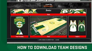 How To Download Team Designs (Jerseys & Courts) In NBA 2K17