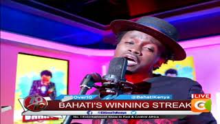 Bahati performing live on #10over10