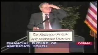 getlinkyoutube.com-Warren Buffett - How to Stay Out of Debt- Financial Future of American Youth (1999)