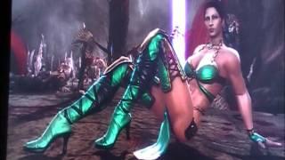 getlinkyoutube.com-MK9 : Kitana,Jade,Mileena Sexy Costumes And Sexy Victory Posses!