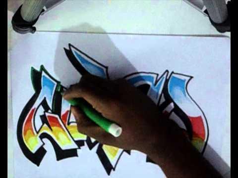 Vídeo Aula com Gene do Grafite 086 - Letra de Graffiti