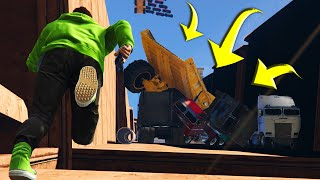 getlinkyoutube.com-SCARIEST VEHICLE AVALANCHE! (GTA 5 Funny Moments)
