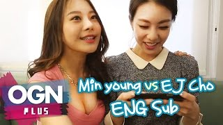 Min young vs EJ Cho [ENG Sub] [조은정의 한판만] Beat MP3 2.0 Finger Dance - [OGN PLUS]