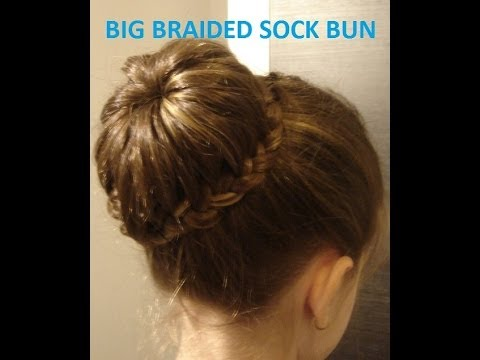 How to: Big braided sock bun/ Coc cu sosete din impletituri / Coafuri par lung