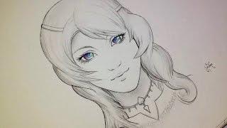 "getlinkyoutube.com-Comment dessiner un visage Manga ""Réaliste"" fille [Tutoriel]"