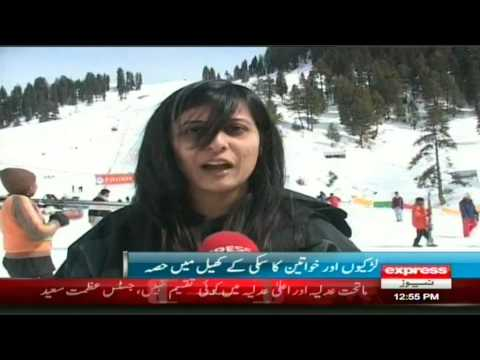 Snow Festival Women day in Malam Jabba Report by sherin zada