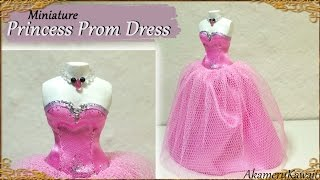 getlinkyoutube.com-Miniature Prom Dress for Dolls - Fabric Tutorial