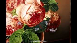 getlinkyoutube.com-Как рисовать розы. Натюрморт масляными красками. Техника старых мастеров. How to Paint a Rose