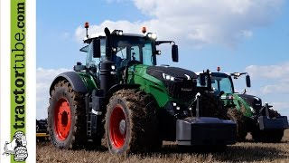getlinkyoutube.com-Fendt 1050 Vario auf dem Feldtag 2014 in Wadenbrunn / the most powerful Fendt