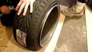 """getlinkyoutube.com-streching 205/45/15 tyres on 9"""" schmidt wheel... EPISODE 1"""