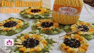 getlinkyoutube.com-Flor Girassol em crochê - Professora Simone