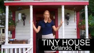getlinkyoutube.com-Woman lives in TINY HOUSE in Orlando, FL- (RV parked and legal)-