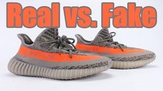 getlinkyoutube.com-Real vs Fake adidas Yeezy Boost 350 V2 Beluga Legit Check
