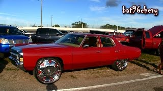 """Pearl Red 1972 4 Dr. Caprice Donk on 28"""" DUB Bandito Floaters - 1080p HD"""