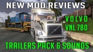 getlinkyoutube.com-Volvo VNL 780 + Trailers pack in TSM Map 4 x Mod (ETS 2 Mods)