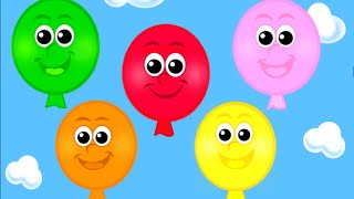 getlinkyoutube.com-The Balloon Song - Learn 10 Color Song for Children, Toddlers and Babies