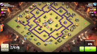 getlinkyoutube.com-Clan Wars: TH7/TH8 Dragon Attack Strategy - Funneling