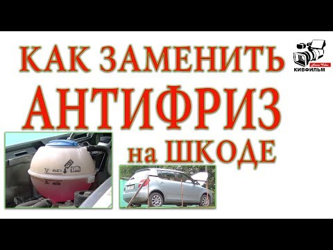 Как заменить Антифриз на автомобиле Шкода. Skoda Fabia II. Видео инструкция.