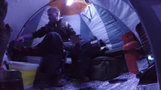 getlinkyoutube.com-Зимняя рыбалка с ночёвкой при -20 и обустройство палатки.