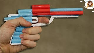 getlinkyoutube.com-How to Make a Paper Revolver that Shoots - Pistol With Trigger