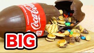 getlinkyoutube.com-BIGサイズのコカコーラボトルチョコ/BIG SIZE Chocolate Coca Cola Bottle Shape Surprise!!/1.5リッターで作った(字幕付)