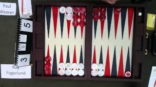 getlinkyoutube.com-Carolina Backgammon R2 Paul Weaver v Ray Fogerlund