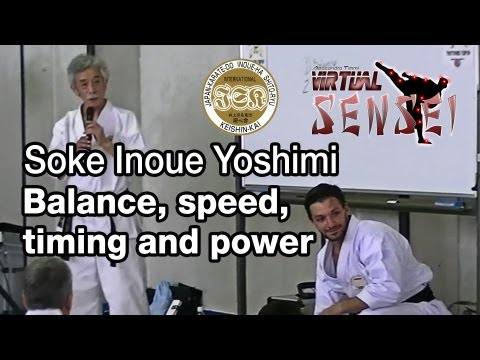 Soke Inoue Yoshimi - Balance, speed, timing and power - Summer Camp 2013