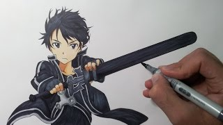 getlinkyoutube.com-Drawing Kirito - Sword Art Online