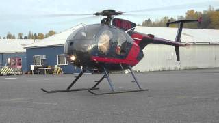 getlinkyoutube.com-MD500 Helicopter engine start and takeoff at KBFI Seattle