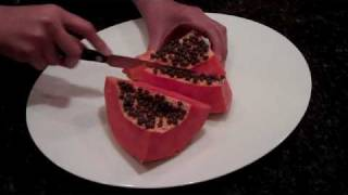 How to Prepare a Ripe Papaya by SheSimmers.com