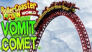 getlinkyoutube.com-RollerCoaster Tycoon World Gameplay - The Vomit Comet 104 MPH Roller Coaster - BETA Gameplay Part 3