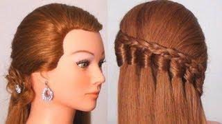 getlinkyoutube.com-Прическа на каждый день с плетением. Easy every day hairstyle tutorial