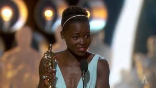 getlinkyoutube.com-Lupita Nyong'o winning Best Supporting Actress