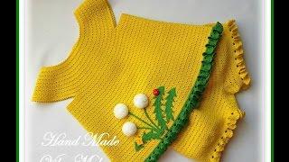 getlinkyoutube.com-Вязаные платья и костюмы для девочек. Crochet dresses and suits for girls