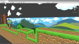 First Test Run - Unity retro-style 2D platformer