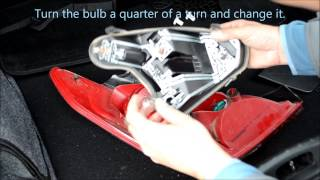 getlinkyoutube.com-Peugeot 308 rear light cluster removal and change rear bulbs
