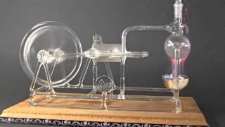 getlinkyoutube.com-Working Model of Stephenson's STEAM ENGINE made of GLASS ! Rare!