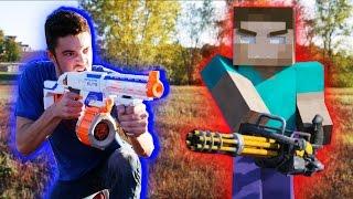 getlinkyoutube.com-Nerf War: Nerf meets Minecraft