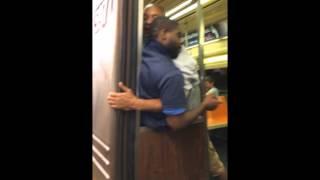getlinkyoutube.com-NYC Subway FIGHT - Dropped YA