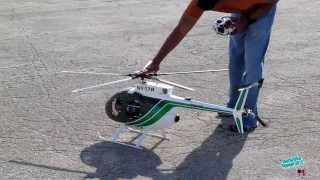 getlinkyoutube.com-RC T-Rex 700 Hughes 500D Helicopter - NYPD Color Scheme