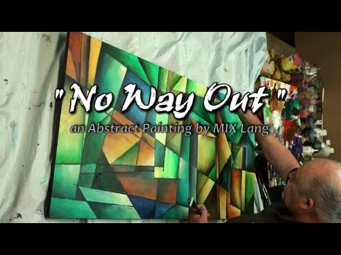Abstract Painting ' No Way Out ' Geometric art full demo.