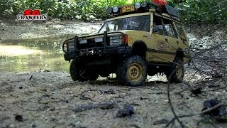 getlinkyoutube.com-Water Mud Trails RC Trucks Scale offroad 4x4 adventures Axial Jeep Land Rover Discovery