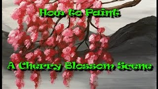 getlinkyoutube.com-How to Paint a Cherry Blossom Scene - Step by Step Acrylic Painting on Canvas for Beginners
