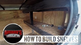 getlinkyoutube.com-How To Build Shelving In Your Enclosed Trailer | DIY