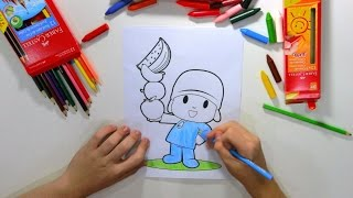 getlinkyoutube.com-Pocoyo - Colorindo e Aprendendo as Cores com o Pocoyo