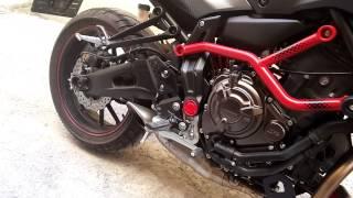 getlinkyoutube.com-Yamaha MT07 Moto Cage - Stock Exhaust vs. Akrapovic