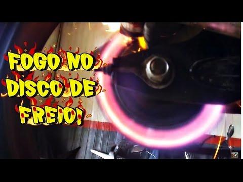 CG TITAN TUNADA 230CC PEGANDO FOGO NO DISCO DE FREIO DE TITANIO