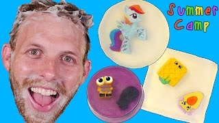 getlinkyoutube.com-Summer Camp - Surprise Toy Soaps Tutorial! My Little Pony, Shopkins, Hello Kitty Learn with DCTC